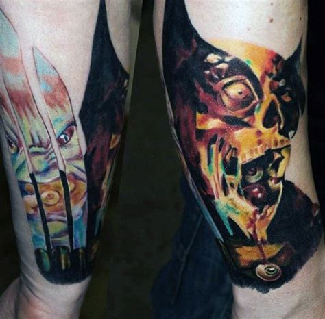 zombie watercolor tattoo 90 tattoos for masculine walking dead designs