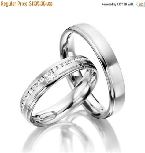on sale matching wedding bands his and hers with diamonds