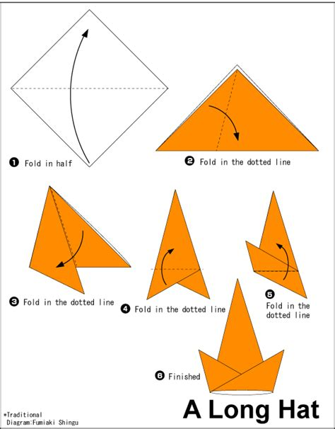 Folded Paper Hat - hat easy origami for