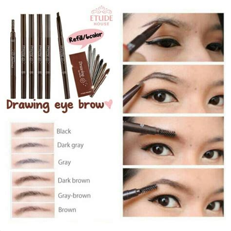 Tear Dua Warna review etude house drawing eye brow brown here