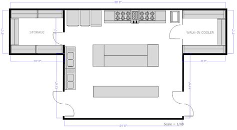 draw kitchen floor plan restaurant floor plan how to create a restaurant floor