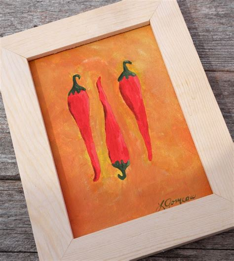 spicy sazonado chili pepper vintage sign framed art print kitchen art red hot chili peppers acrylic painting
