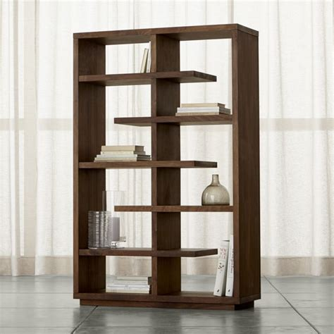 walnut bookshelves elevate walnut 68 quot bookcase crate and barrel
