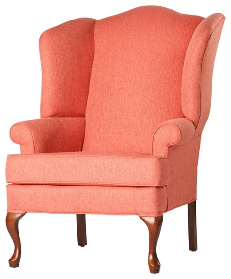 small traditional wingback chair wingback chair coral 28x35x42 traditional