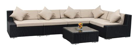 patio furniture wicker 6pc sectional sofa set outdoor