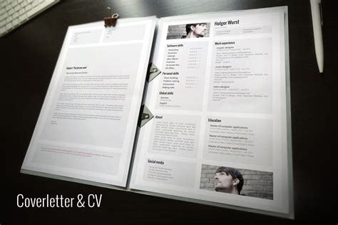 portfolio word template cv cover letter portfolio template resume templates on