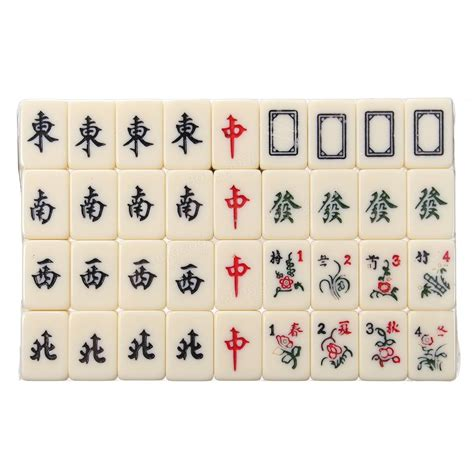 with 144 tiles portable vintage mini mahjong 144 tiles