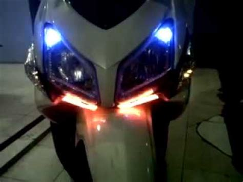 Lu Led Motor Vario Cw modif stop l sein rider blitz mp4