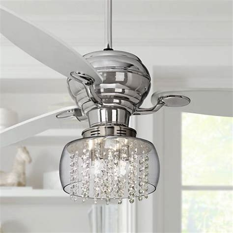 bling ceiling fan light kits 60 quot spyder chrome ceiling fan with chrome light