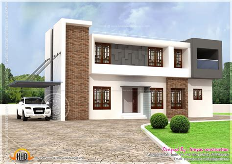 flat roofed house plans