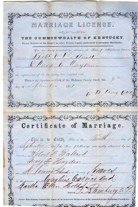 Washington Marriage Records Kentucky Marriage Records Edmonson To Greenup County
