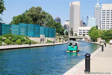 paddle boats on the canal in indianapolis valley of dreams an article about the river valley