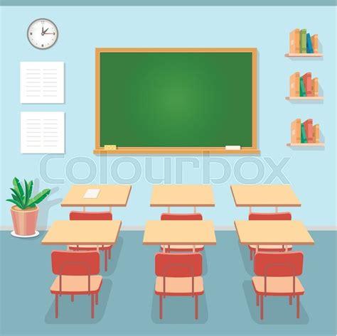 layout de un salon de clases school classroom with chalkboard and desks class for