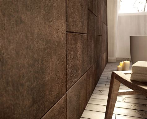 leather walls lapelle as a second skin covering interior floors and