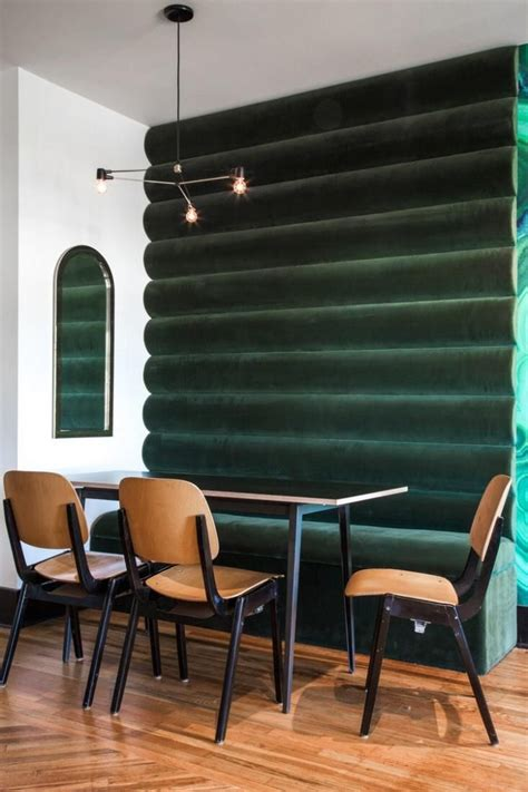 dining room banquettes a show stopping emerald backdrop inspired by color