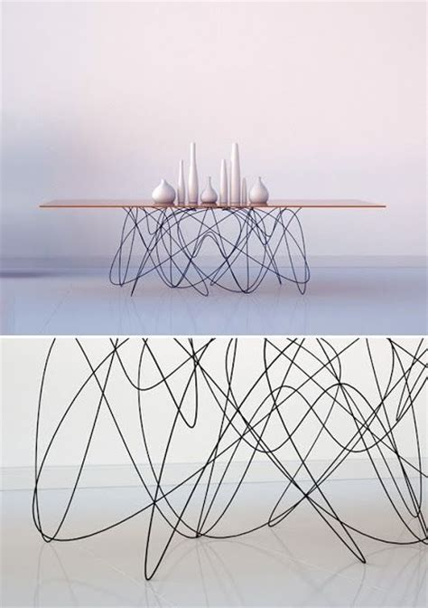 wire leg table furniture