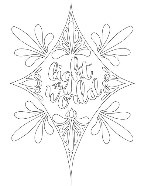 coloring page for light of the world just what i squeeze in light the world free
