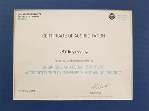 jrs accredited  engineering  geoscientists bcs employer member  training program jrs