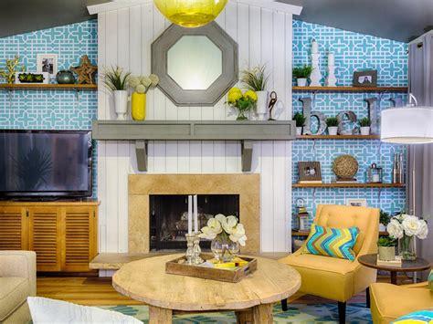 yellow themed living room hgtv s renovation raiders hgtv
