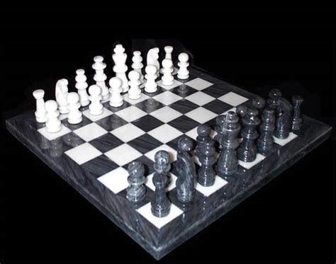 white chess set decorative gray and white marble chess game set large