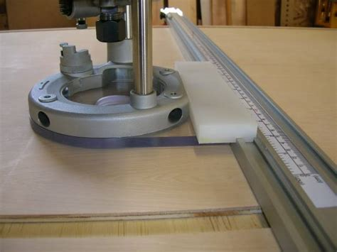 wood woodworking project guided router base
