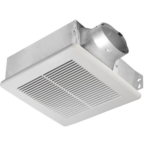 wall mount exhaust fan bathroom delta breez slim 100 cfm ceiling or wall mount bathroom