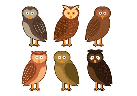 barn owl character vector download free vector art