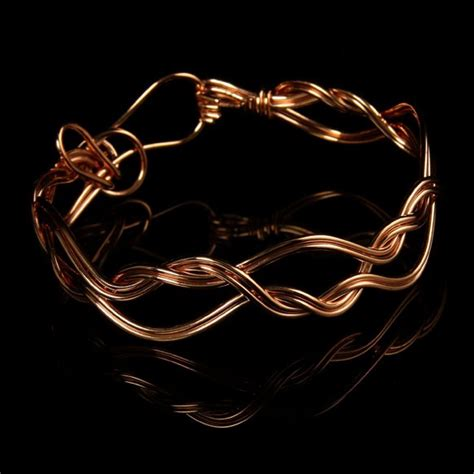 Handcrafted Copper Bracelets - handcrafted woven copper jewelry collection necklace