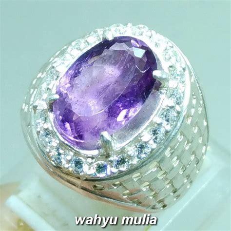 Kecubung Amethyst batu cincin kecubung ungu amethyst asli kode 977 wahyu