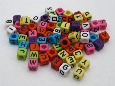 pony bead letters 250 assorted alphabet letter acrylic cube pony 6x6mm