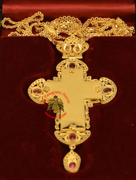 Lovely Byzantine Church Supplies #4: 6653-088a_Pectoral_Cross_Orthodox_Gold_Plated_Brass_Nioras-b.jpg