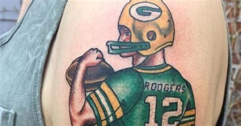 tattoo shops in green bay this packers fan got a really of aaron