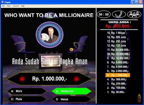 membuat game who wants to be a millionaire game who wants to be a millionaire versi indonesia asep
