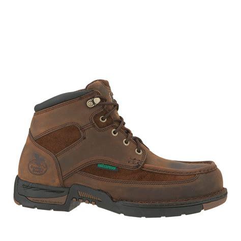 athens mens brown leather waterproof suede work