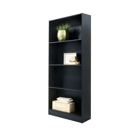 4 tier bookshelf black kmart
