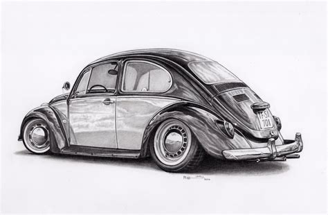 volkswagen bug drawing vw beetle by froggstomper79 on deviantart