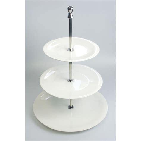 3 Tier White Cupcake Cake Stand traditional 3 tier white porcelain cake cupcake stand
