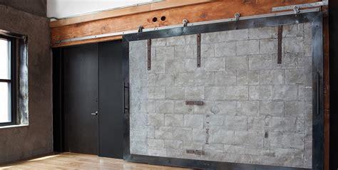 Barn Style Door Track System Flat Track Modern Barn Door Hardware Axel By Krownlab