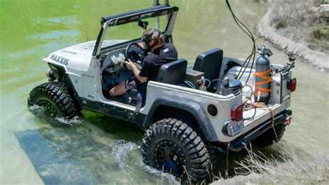 jeep snorkel underwater jeep becomes submarine in diesel conversion stunt