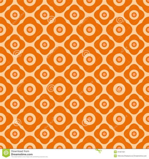 orange pattern web seamless floral pattern with geometric stylized flowers