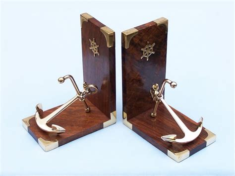 Nautical Home Decor Wholesale | wholesale brass anchor book ends wholesale fishing decor