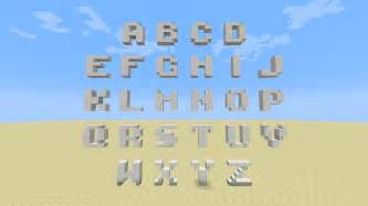 had trouble building letters in minecraft not