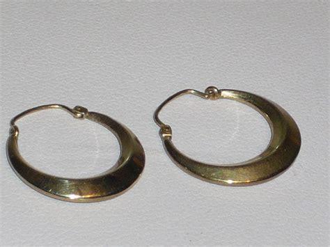 Hoop Earrings 1 2 Cm gold hoop earrings diameter 2 cm approx 1930 40 catawiki