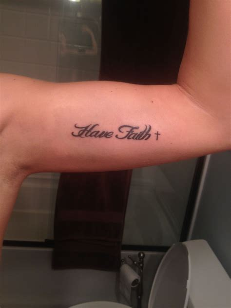 have faith tattoo faith arm inner bicep ideas