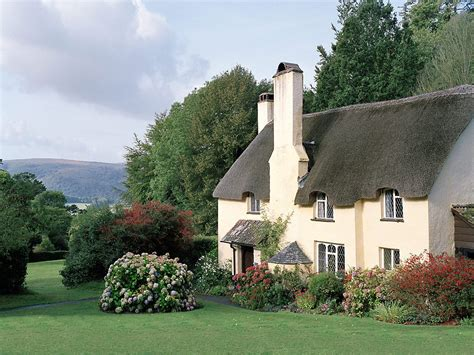 Somerset Coastal Cottages by European Photo Of Thatched Cottage And Gardens In