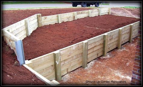 the retaining walls specialist melbourne treated pine timber retaining wall with galvanised i