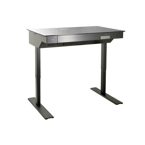 computer desk chassis lian li s computer desk line now has standing desk dk 04