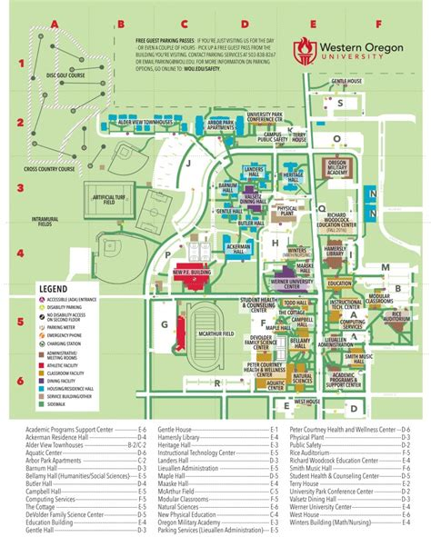 map of oregon universities cus map cus safety