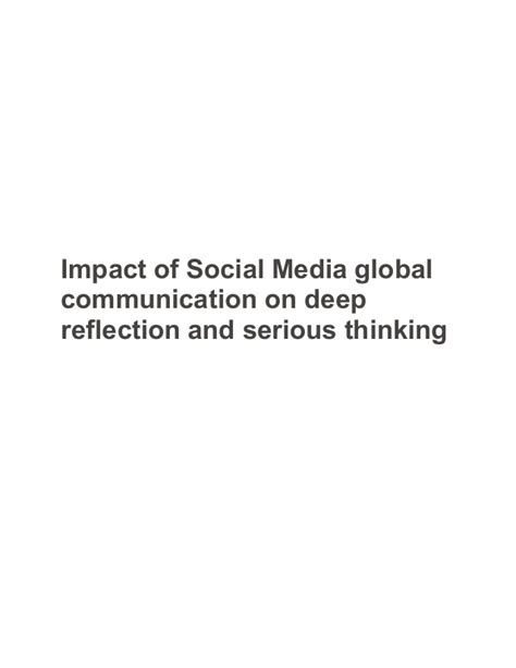 Essay On Impact Of Social Media On Todays Youth by Impact Of Social Media Global Communication On Reflection And Se