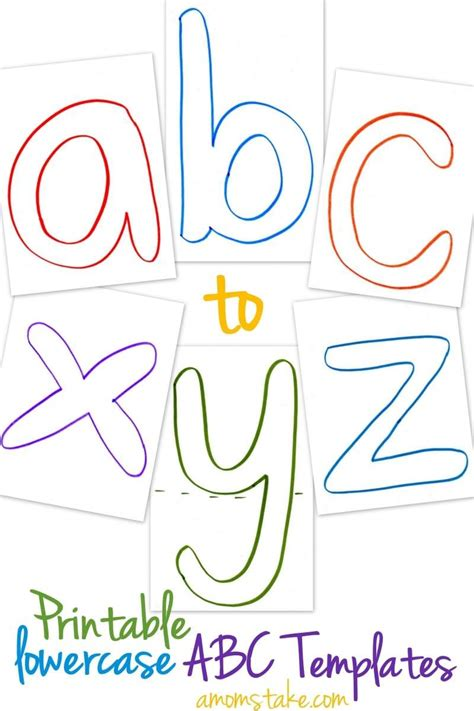 Lowercase Abc Templates Free Printable A Mom S Take Letter Templates Printable